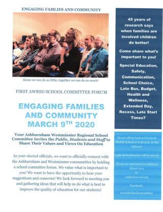 ash-west community forum flyer