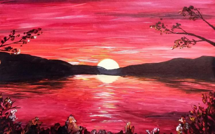 Budding artists will paint sunset landscapes